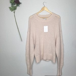 & Other Stories Creme Mohair Wool Blend Sweater L